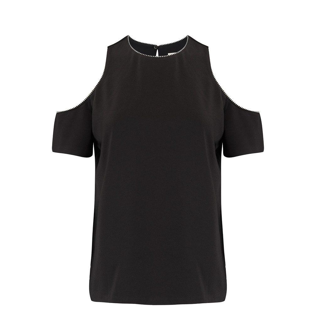 Emmy Cold Shoulder Top - Black