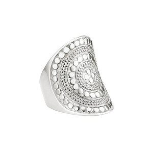 Beaded Saddle Ring - Silver