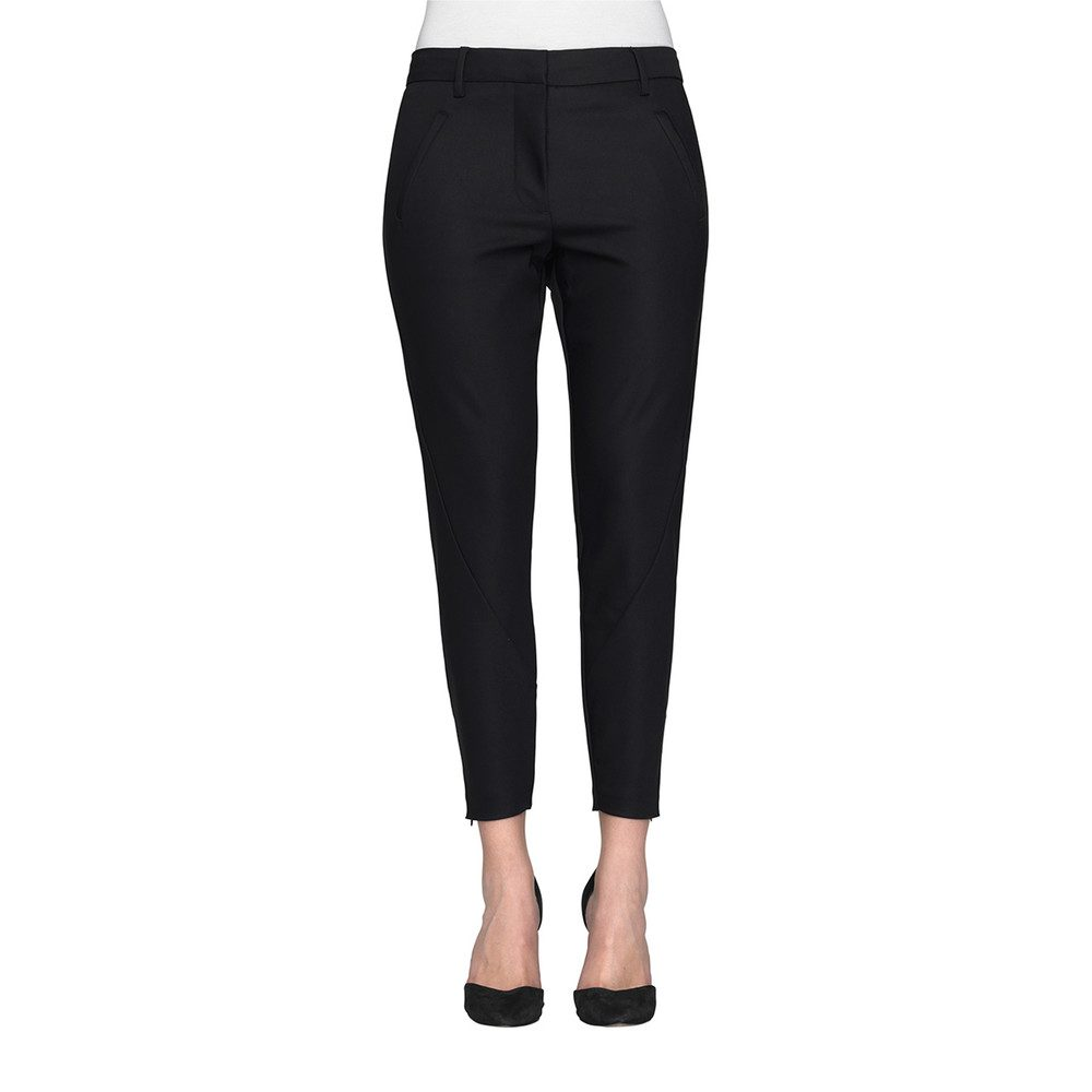 Angelie 238 Zip Jeggin Pants - Black