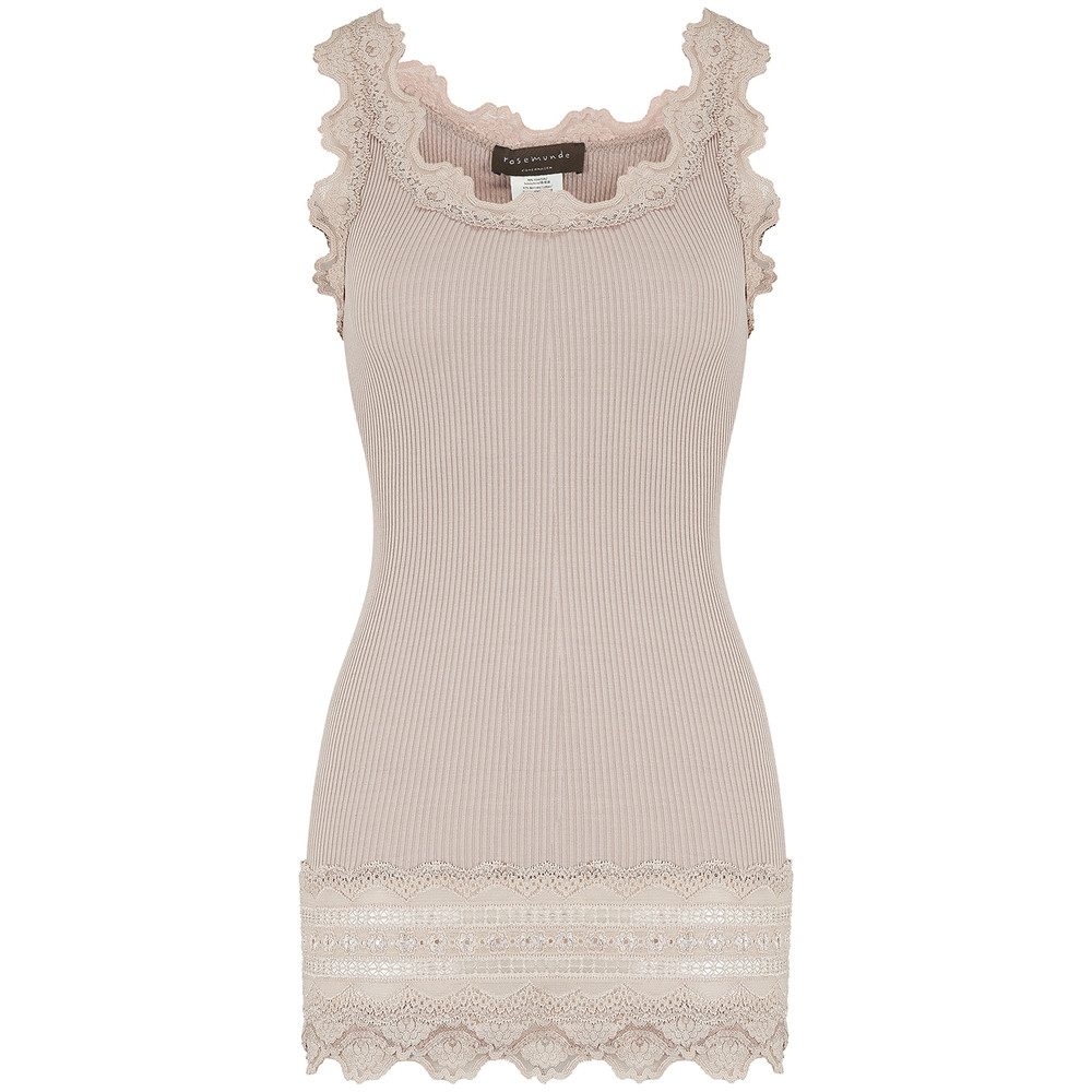 Wide Lace Silk Blend Vest - Atmosphere