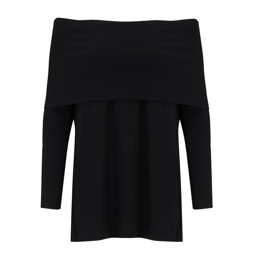 Cowl Neck Top - Black
