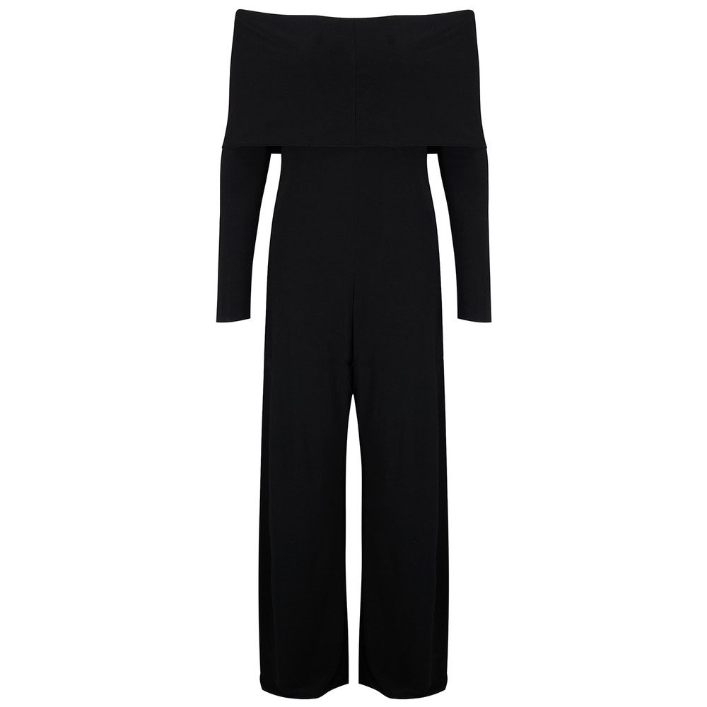 Cowl Neck Jumpsuit - Black
