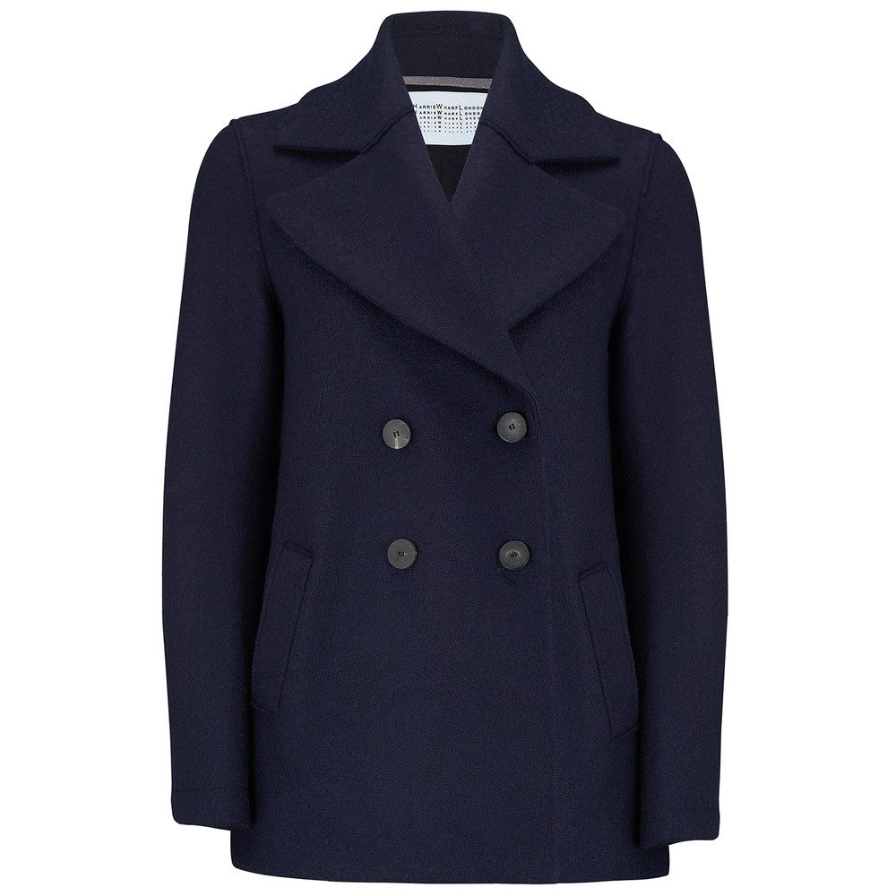 Oversized Peacoat - Navy Blue