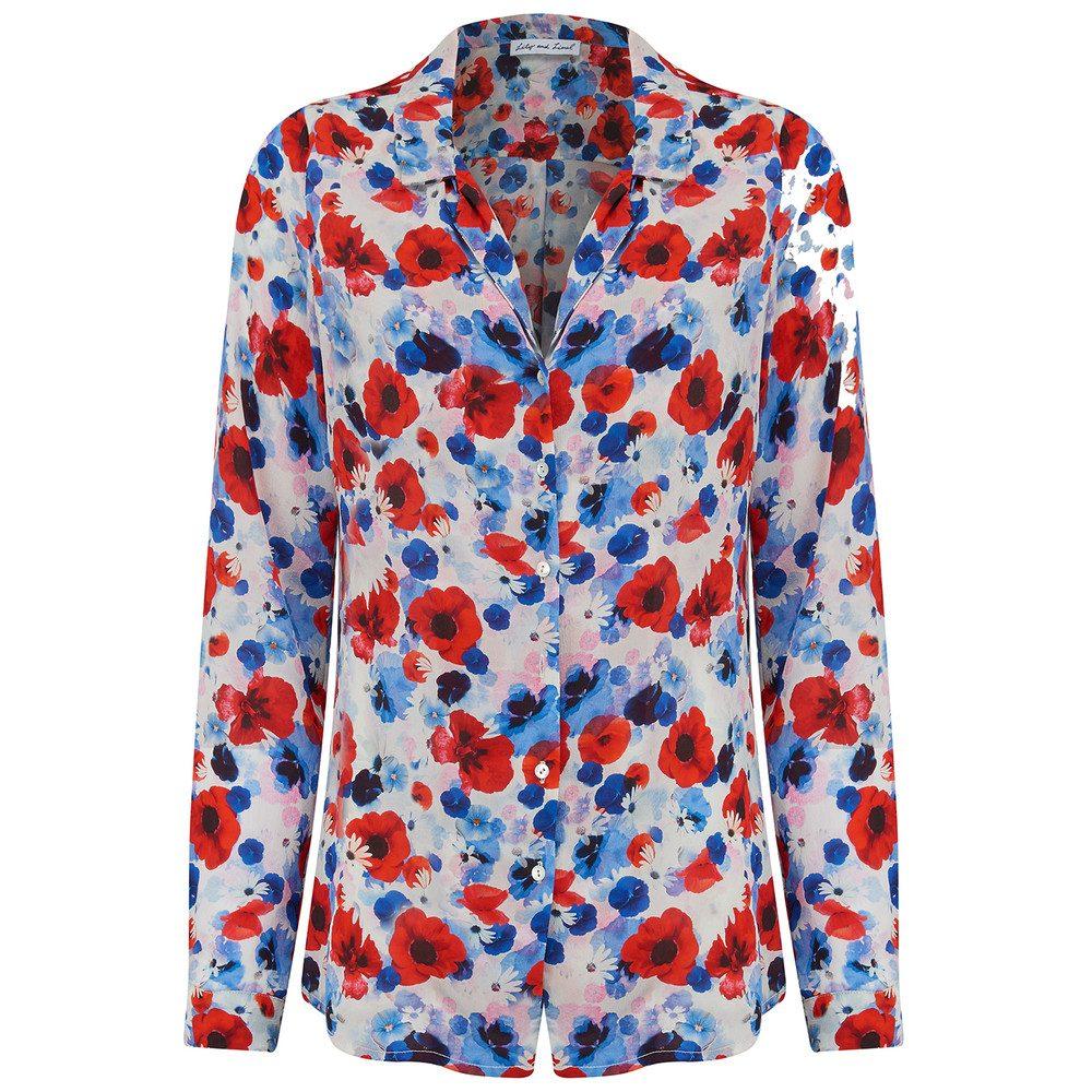 Girlfriend Silk Shirt - Poppy White