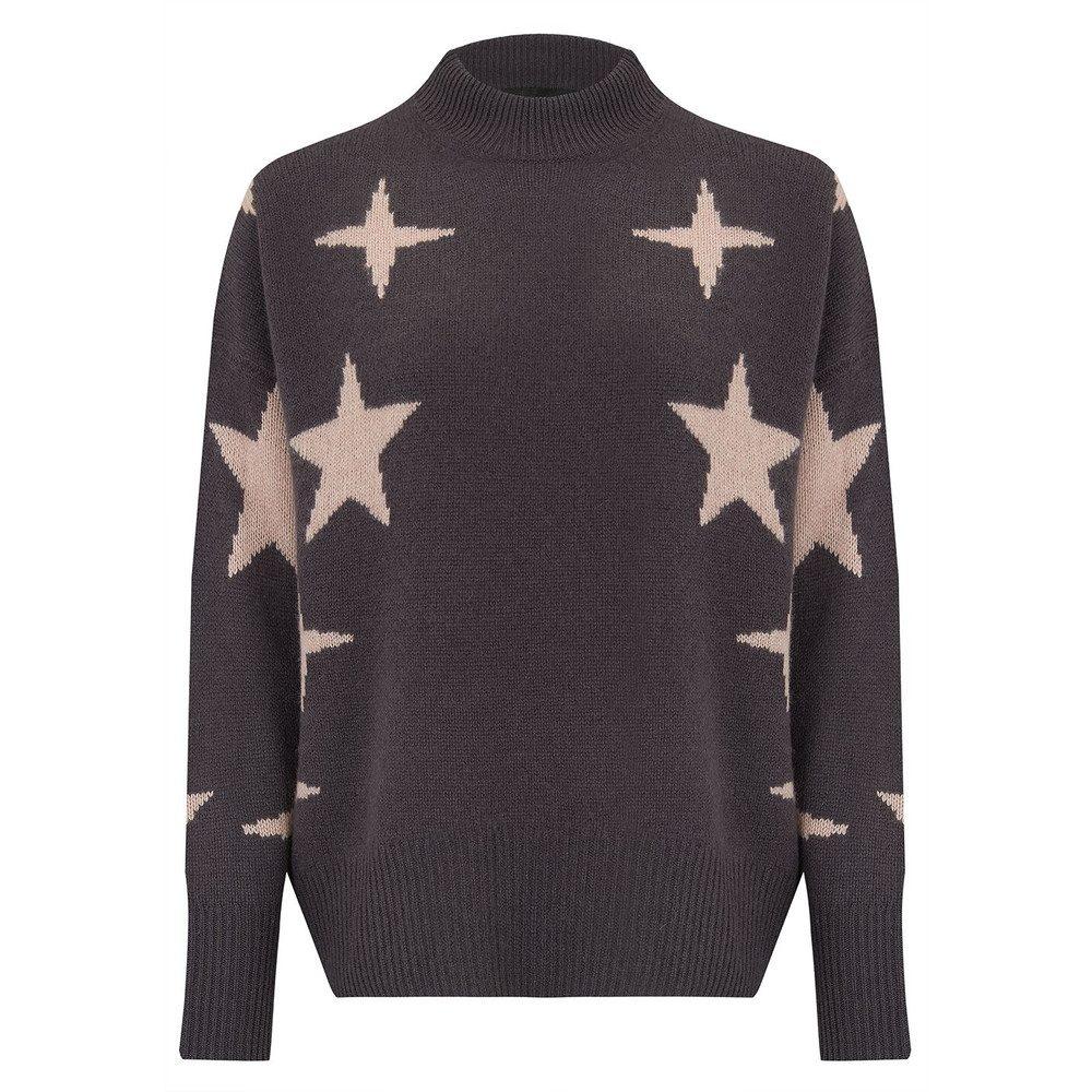 Allyssa Sweater - Cement & Rose Quartz Star