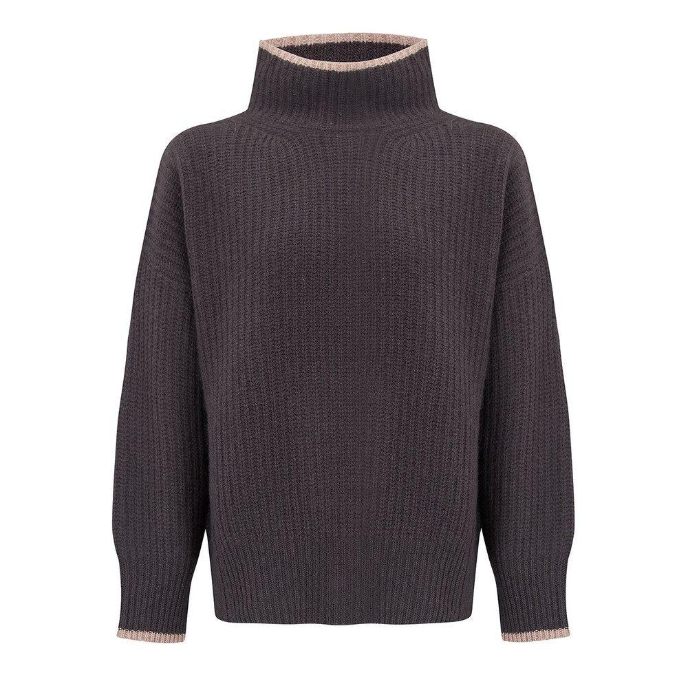 Sasha Sweater - Cement & Rose Quartz