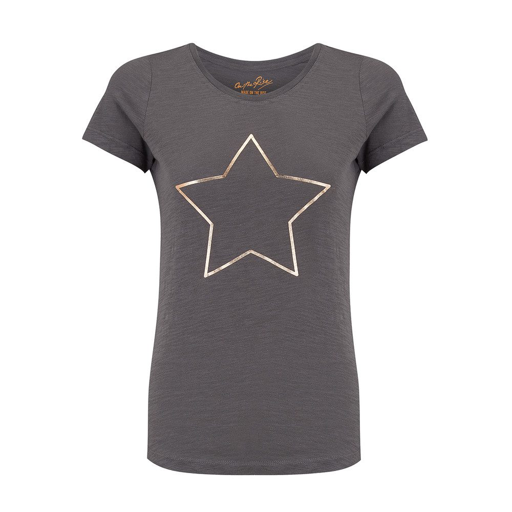 Star Tee - Grey & Rose Gold