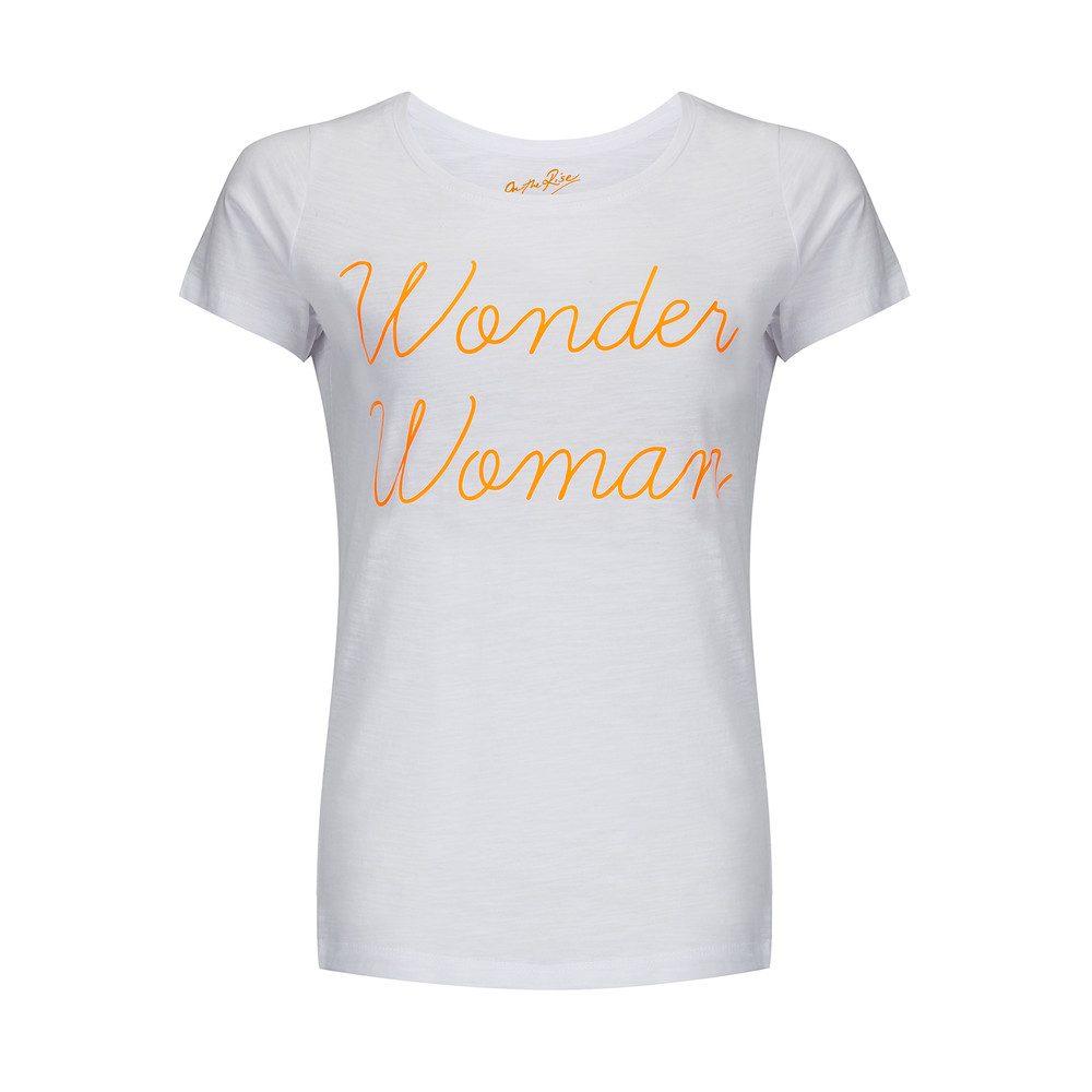 Wonder Woman Tee - White & Orange