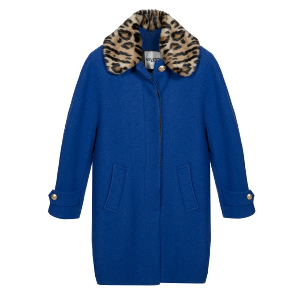 Omensa Oversized Cocoon Coat - Monaco Blue