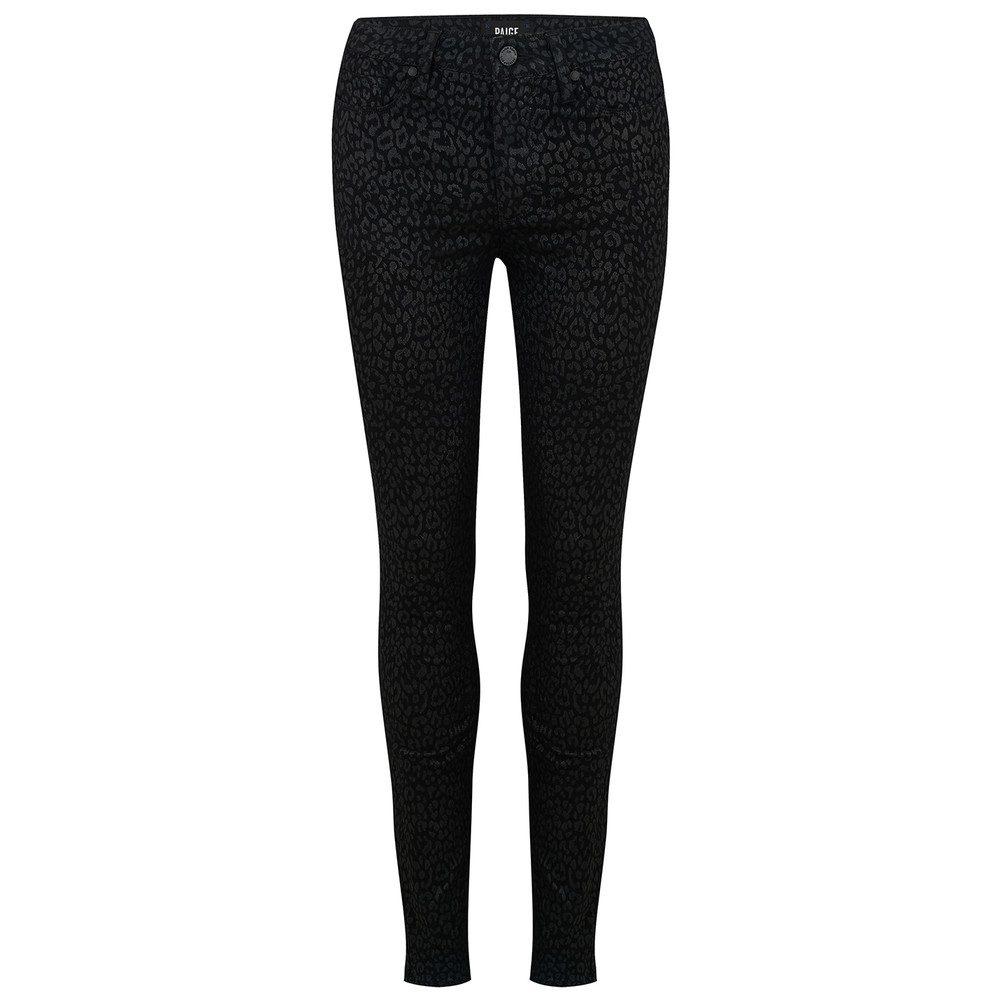 Hoxton High Rise Ultra Skinny Jeans - Metallic Leopard Noir