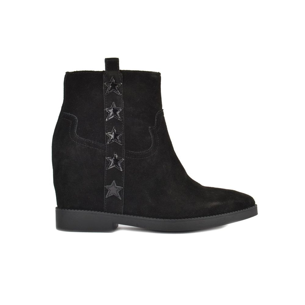Goldie Wedge Suede Ankle Boot - Black