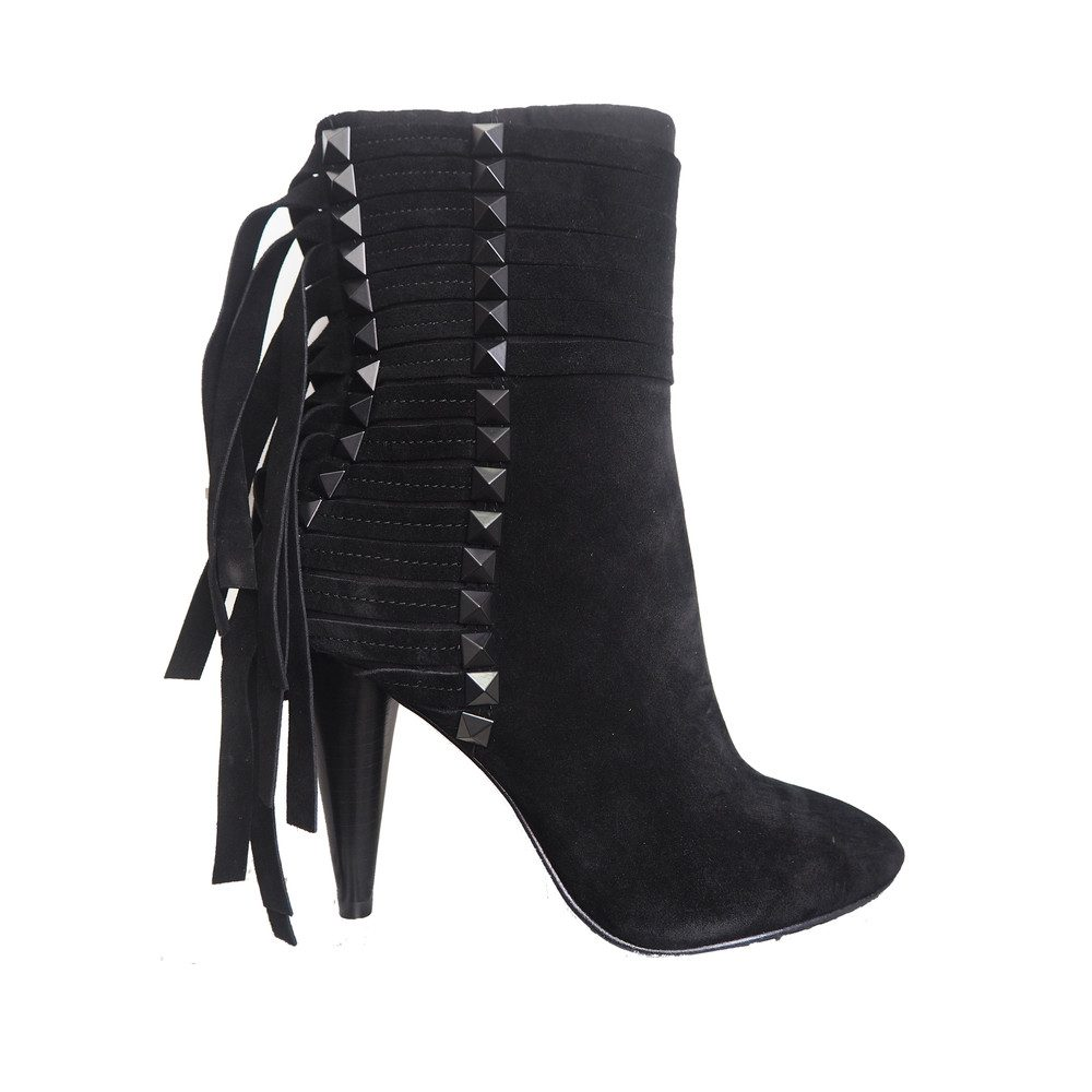 Brave Suede Heeled Boots - Black