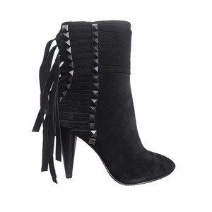 Brave Suede Heeled Boots - Black