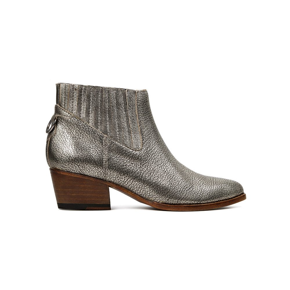 Ernest Metallic Leather Ankle Boot - Gold