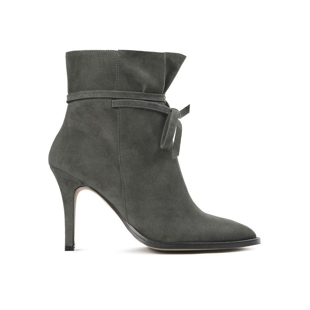Sheena Suede Boot - Grey