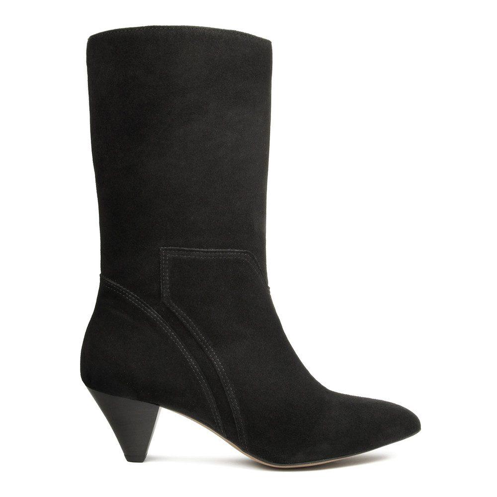 Regina Suede Boot - Black