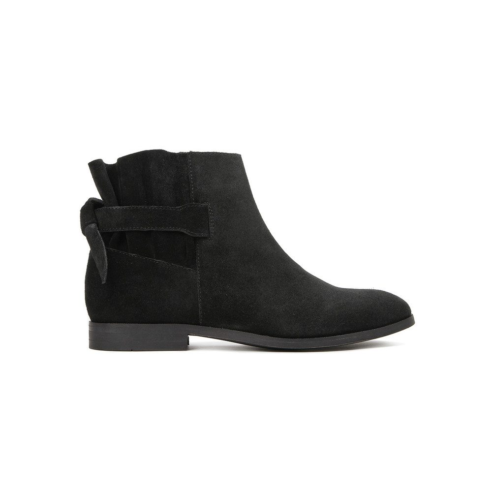 Aretha Suede Boot - Black
