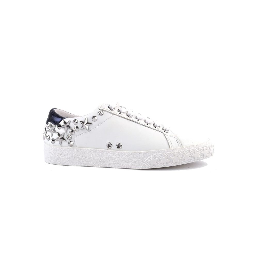 Dazed Studded Trainers - White & Midnight Blue