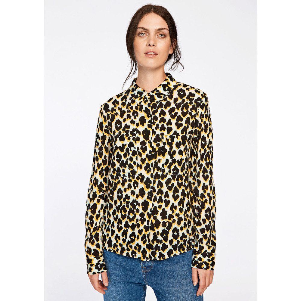 Milly Shirt AOP - Leopard Jaune