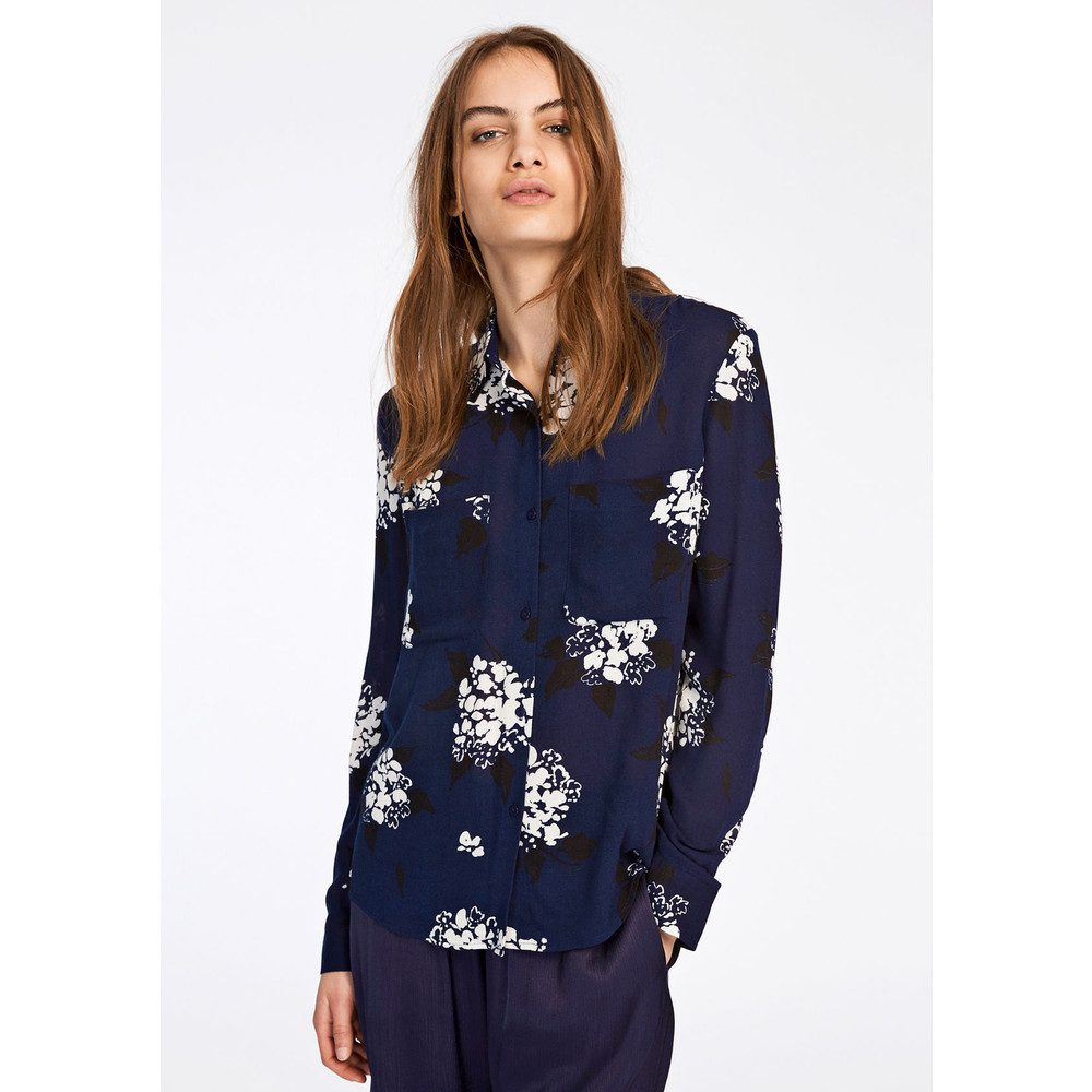 Milly Shirt AOP - Florasion Bleu