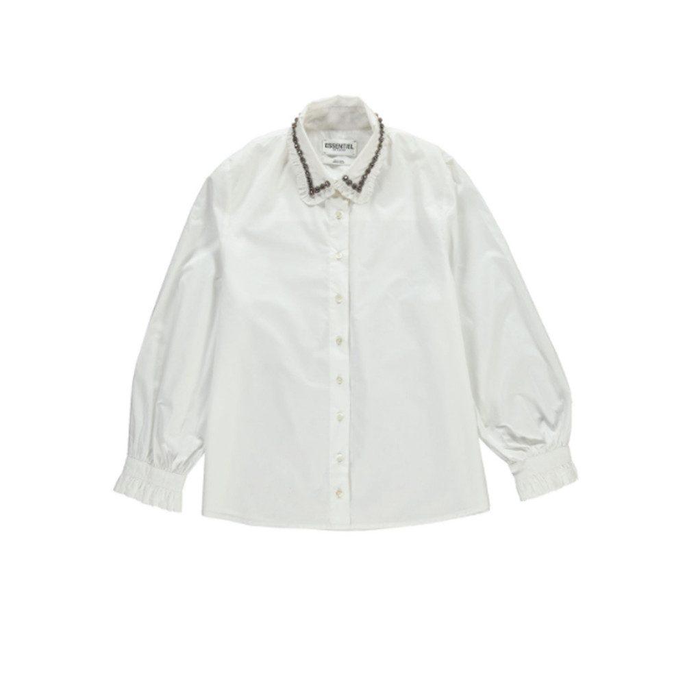 Odakota Embellished Collar Shirt - White