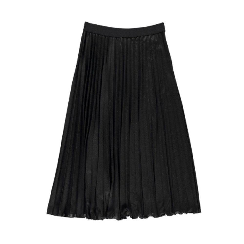 Oncing Pleated Jersey Skirt - Black