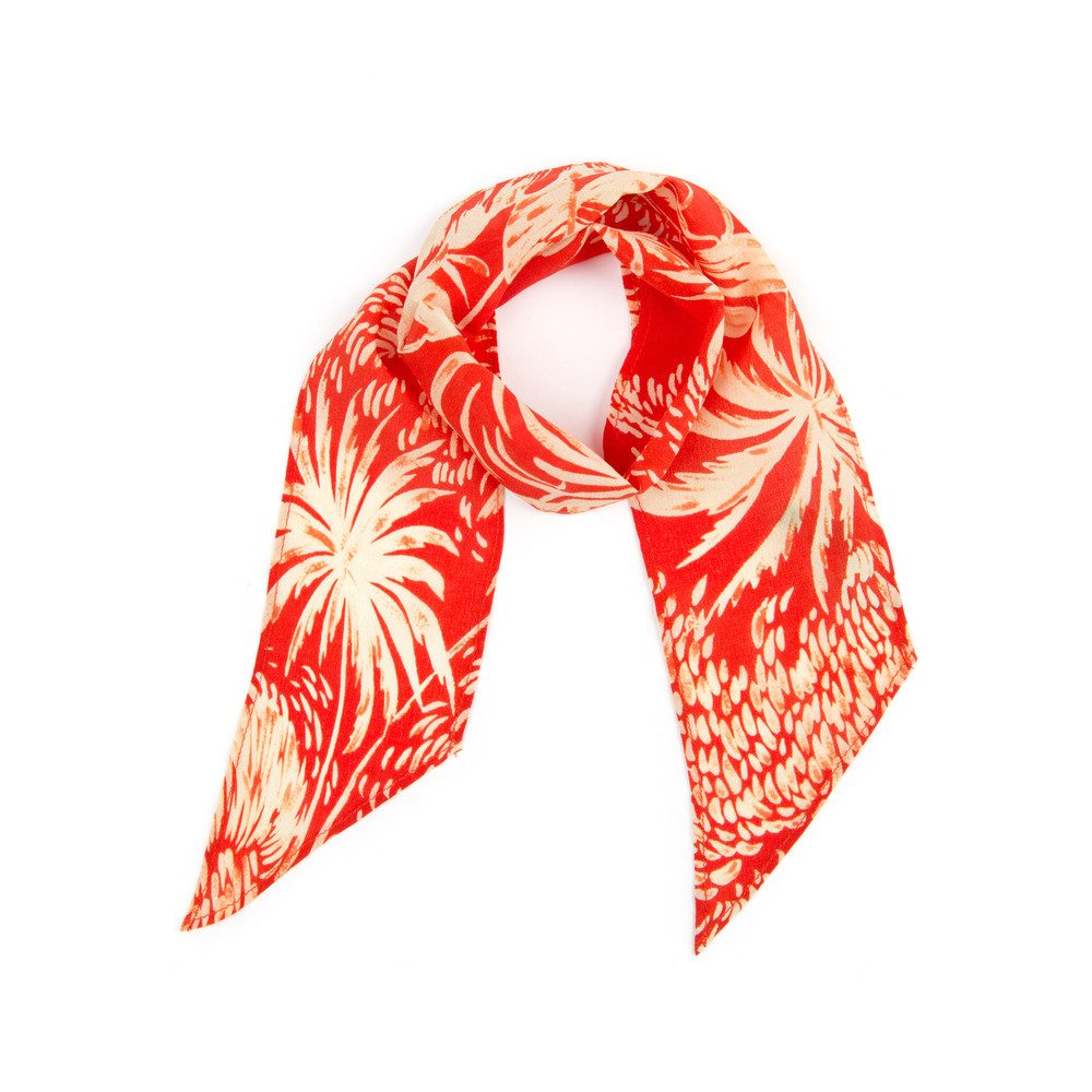 Alexa Neckscarf - Red Oriental Jungle