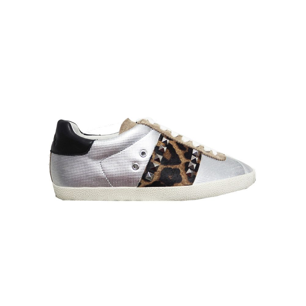 Ginger Trainers - Silver & Cocco