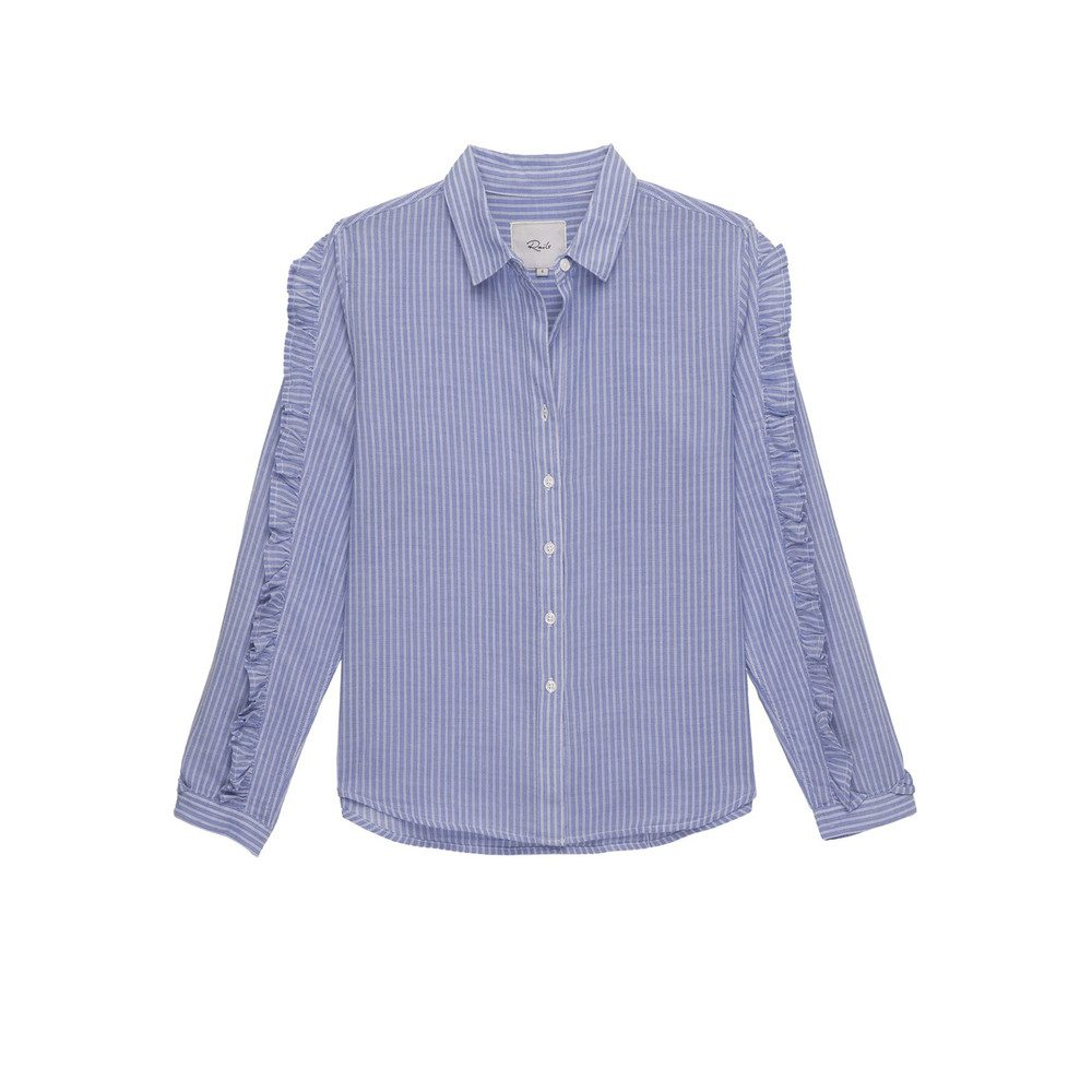 Lizzi Shirt - Bellflower White Stripe