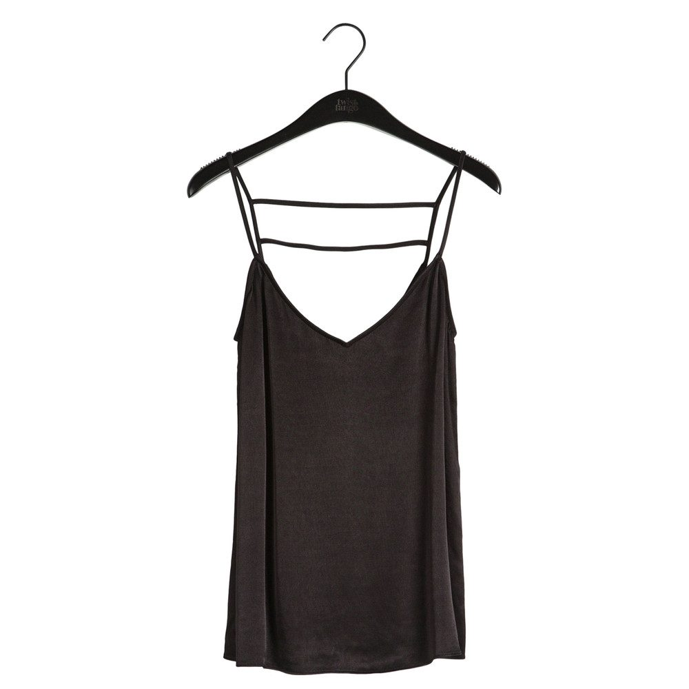 Sia Slip Top - Black