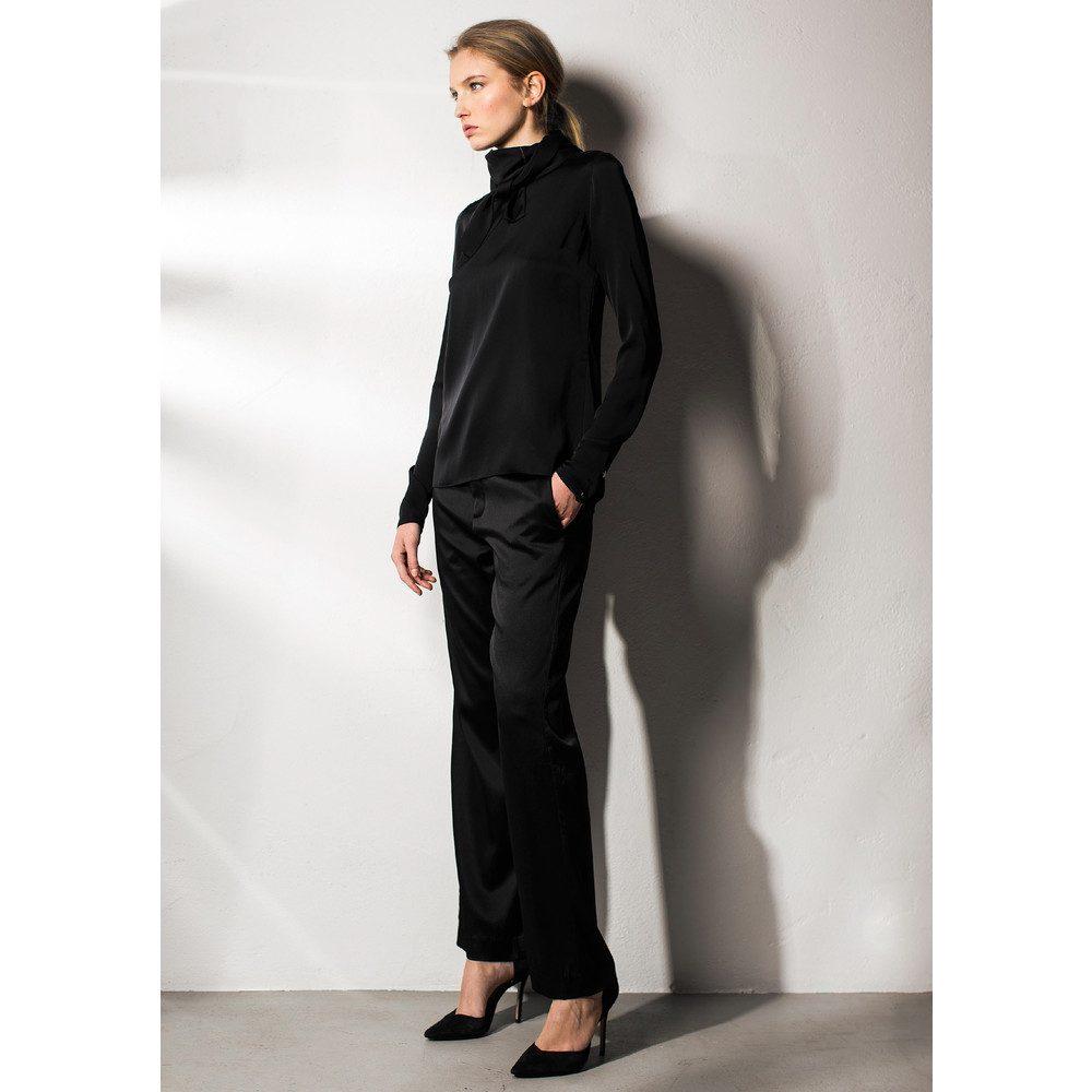 Amy Silk Trousers - Black