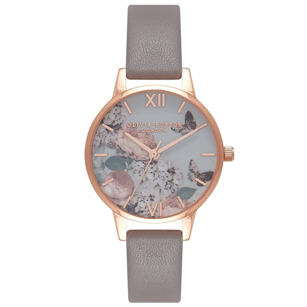 Midi Signature Floral Watch - London Grey & Rose Gold