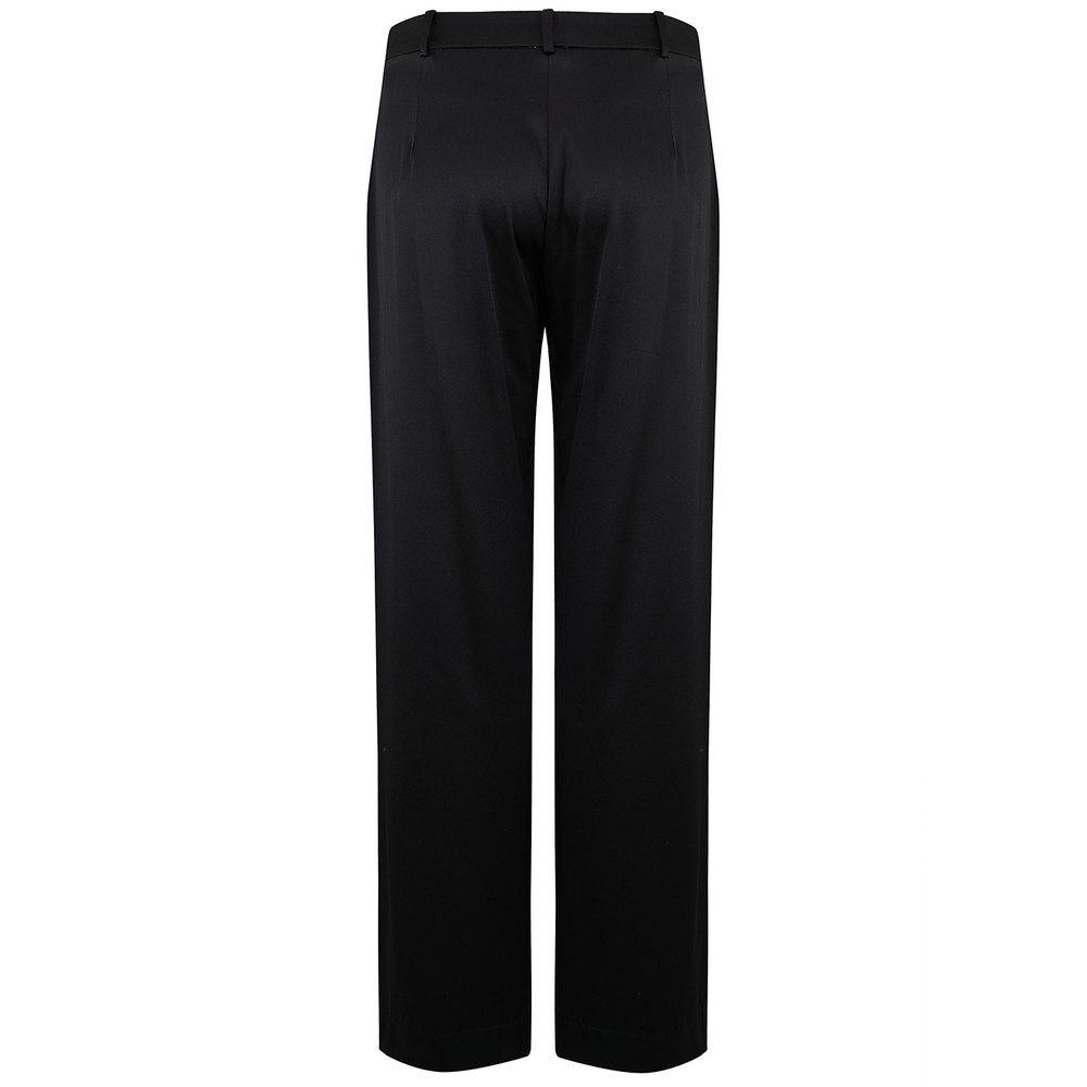 Amy Silk Trousers - Black