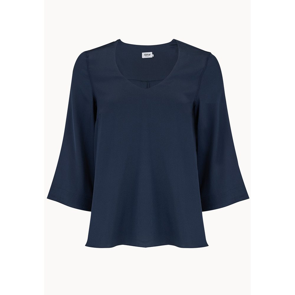 Emiko Silk Blouse - Midnight Blue
