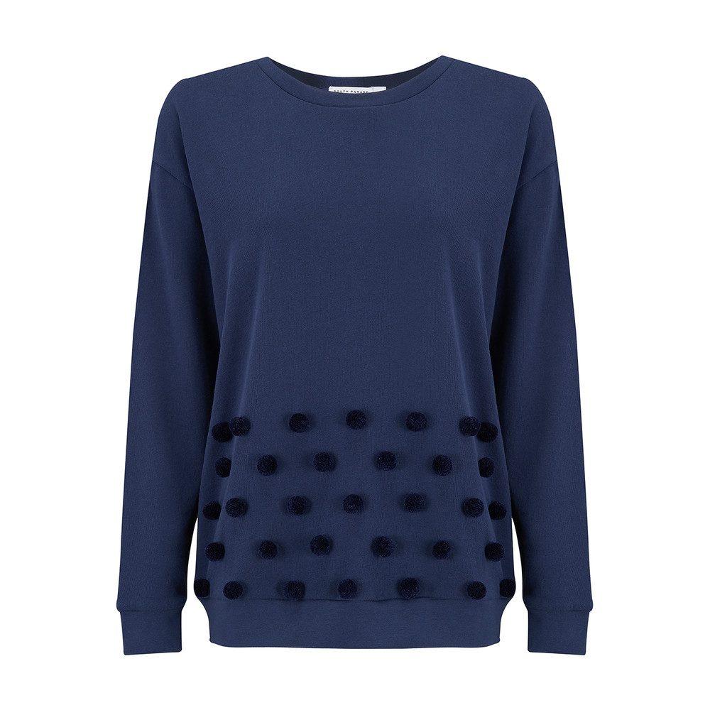 Alexa Pom Pom Sweater - Navy