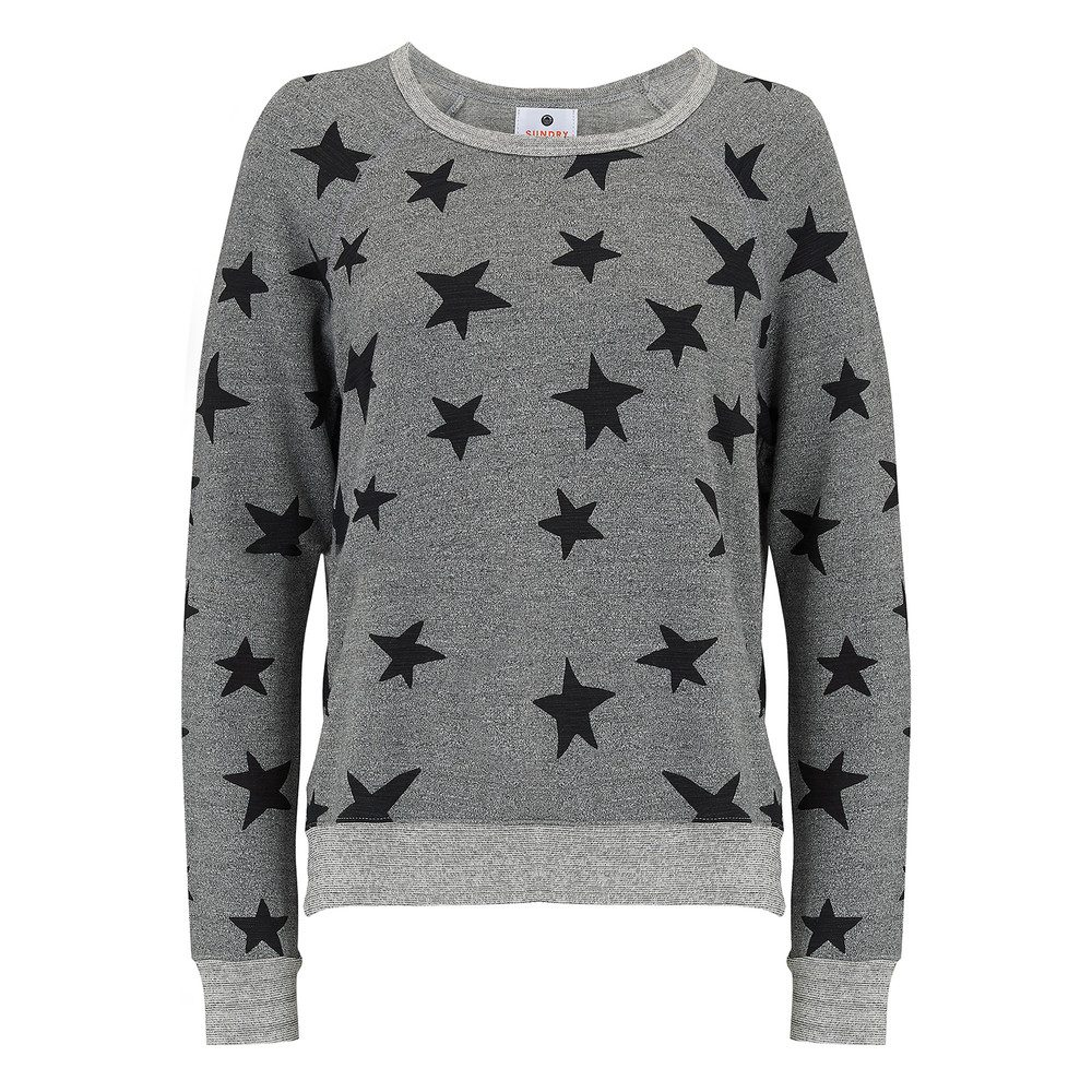Stars Active Sweater - Heather Grey