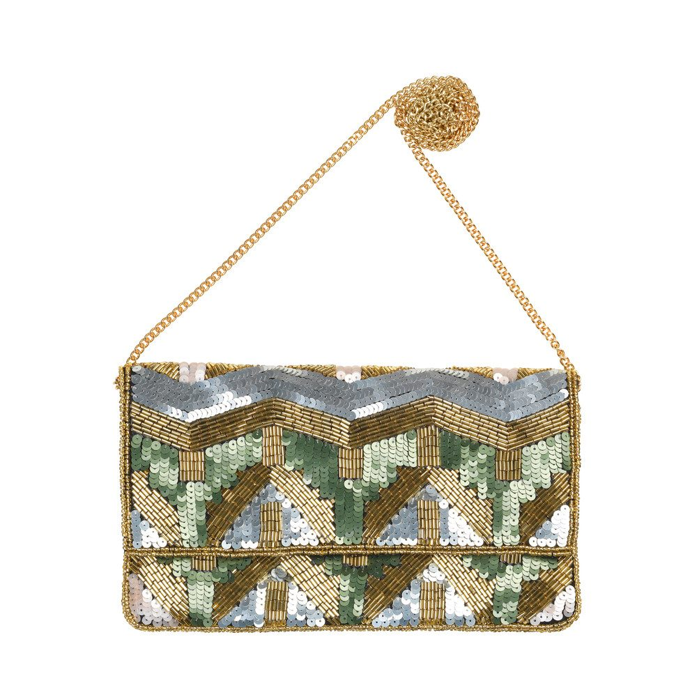 Paradis Sequined Bag - Dusty Olive