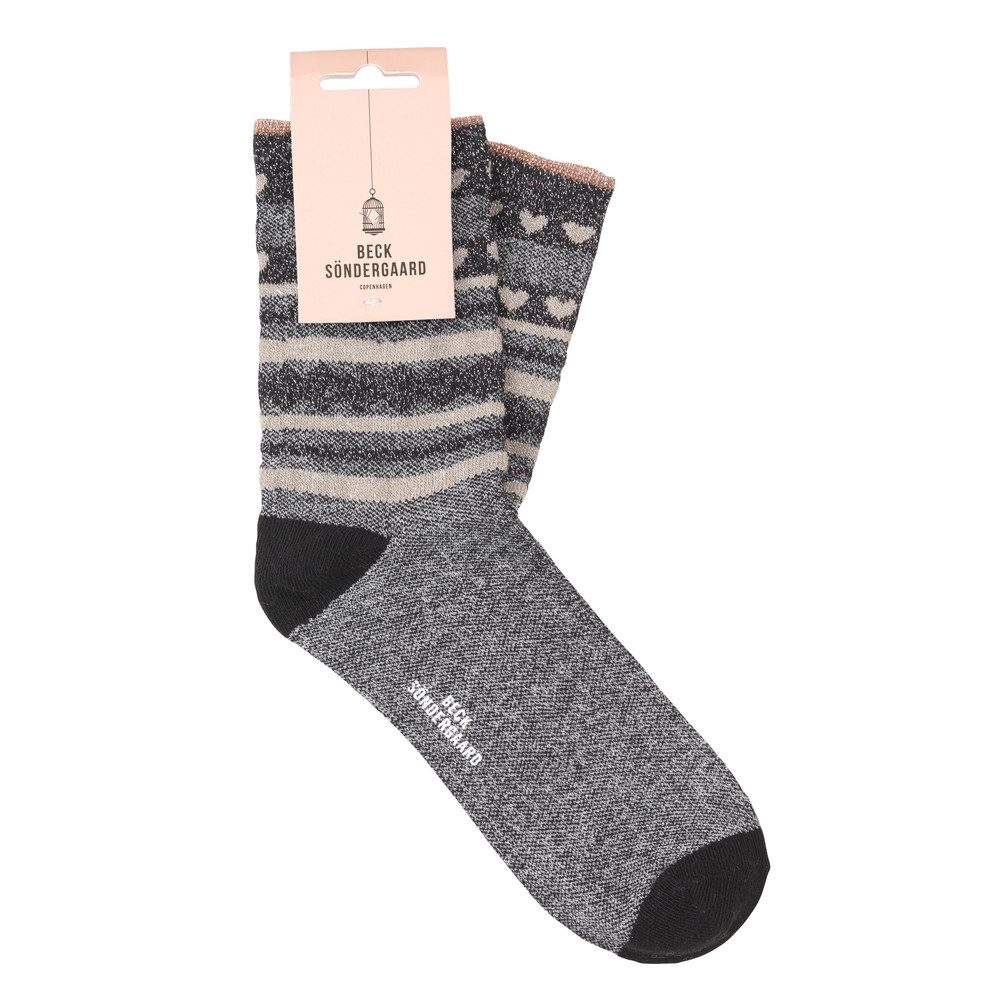 Duca Hearts Socks - Black