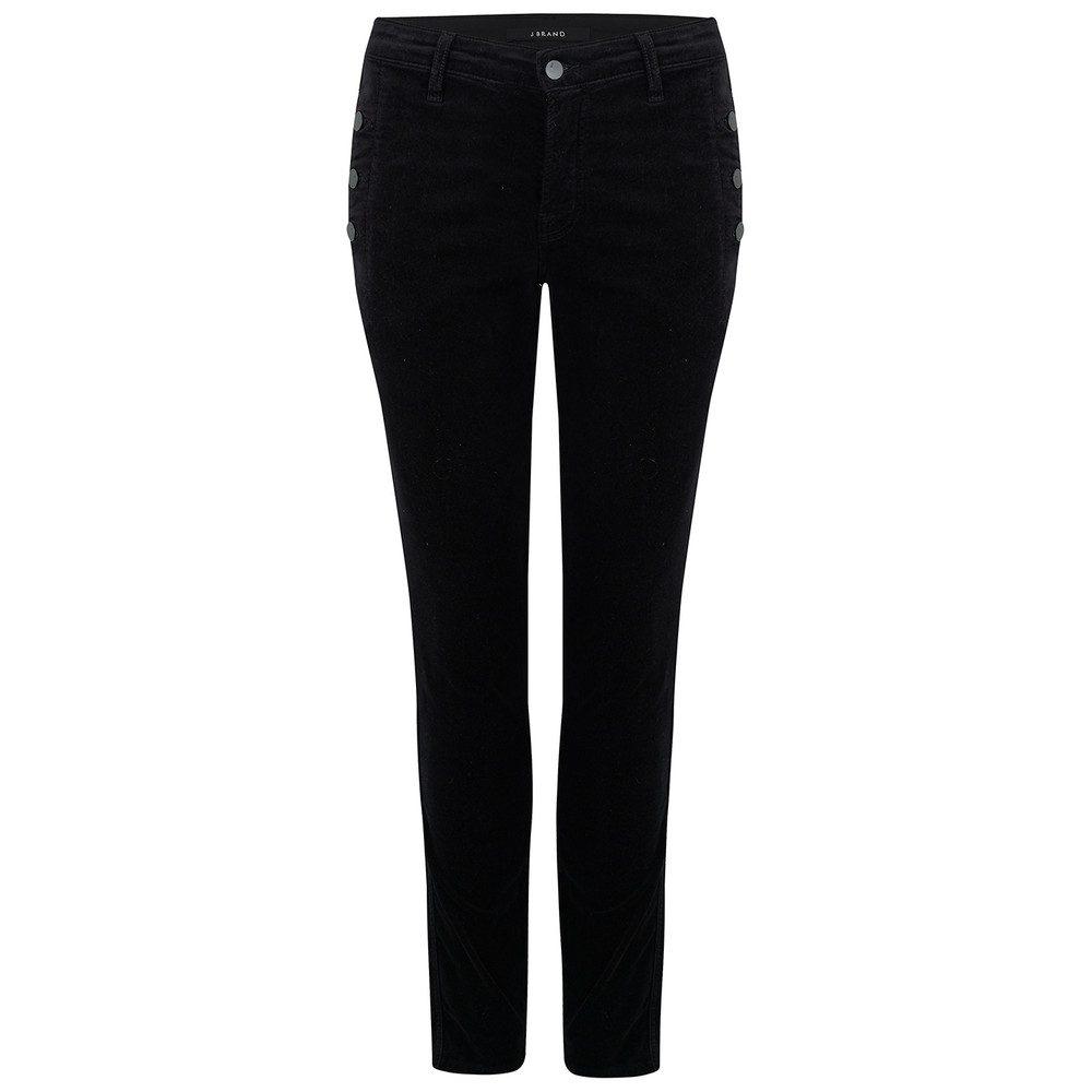 Zion Mid Rise Luxe Velveteen Jeans - Black