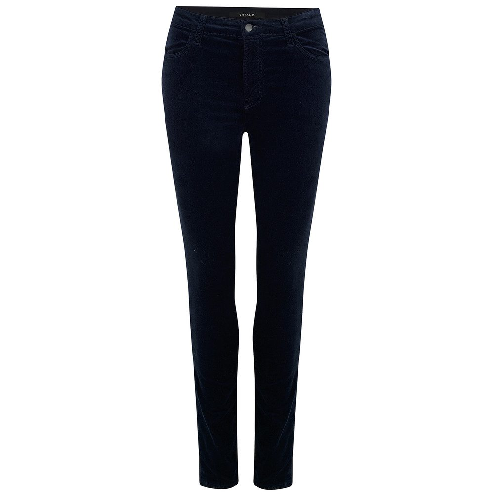 Maria High Rise Luxe Velveteen Jeans - Dark Iris