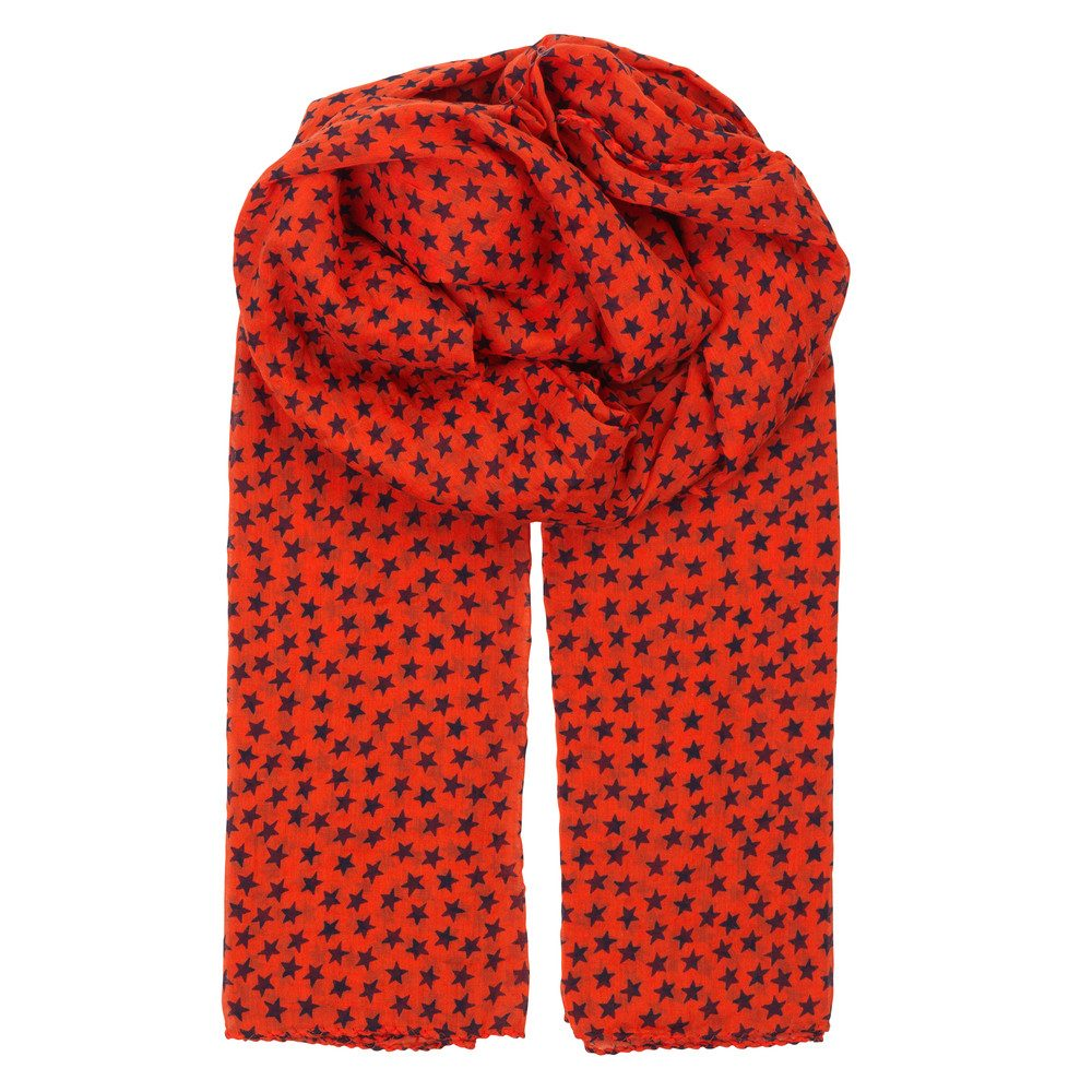 Fine Summer Star Scarf - Cherry Tomato