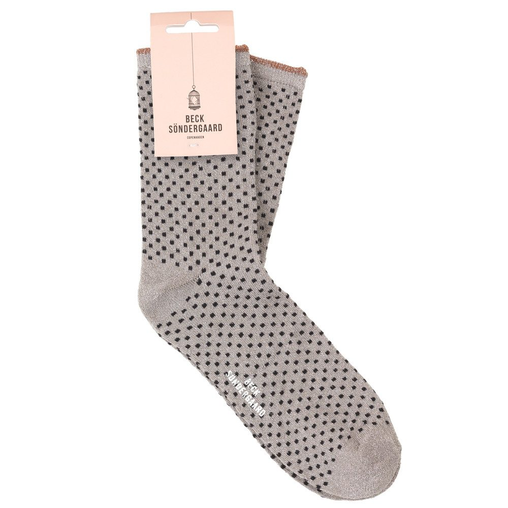 Dina Small Dots Socks - Opal Grey