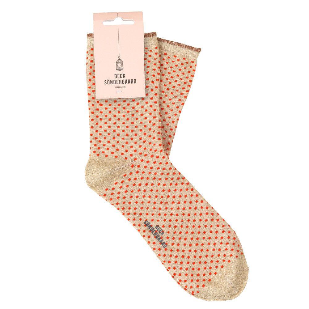 Dina Small Dots Socks - Cherry Tomato