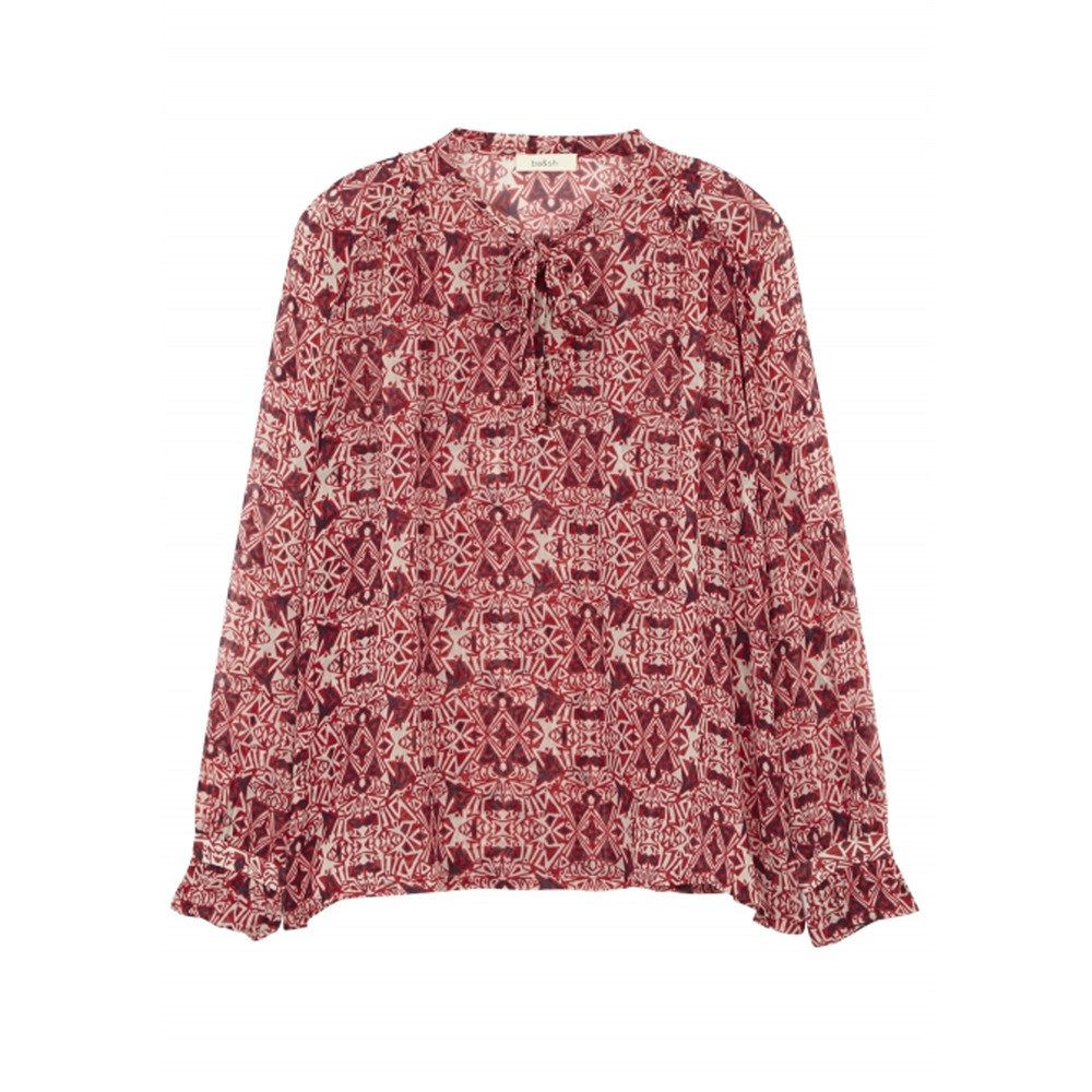 Rodeo Printed Blouse - Rouge