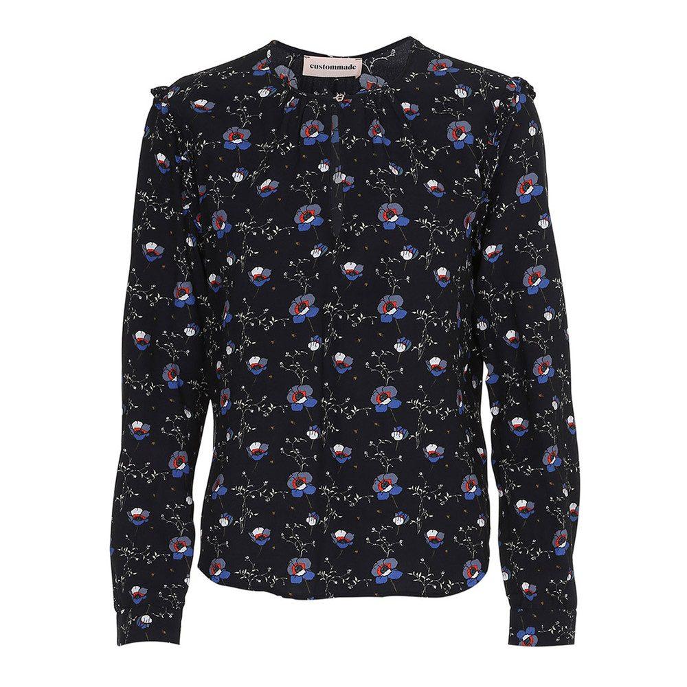 Raja Floral Shirt - Anthracite Black