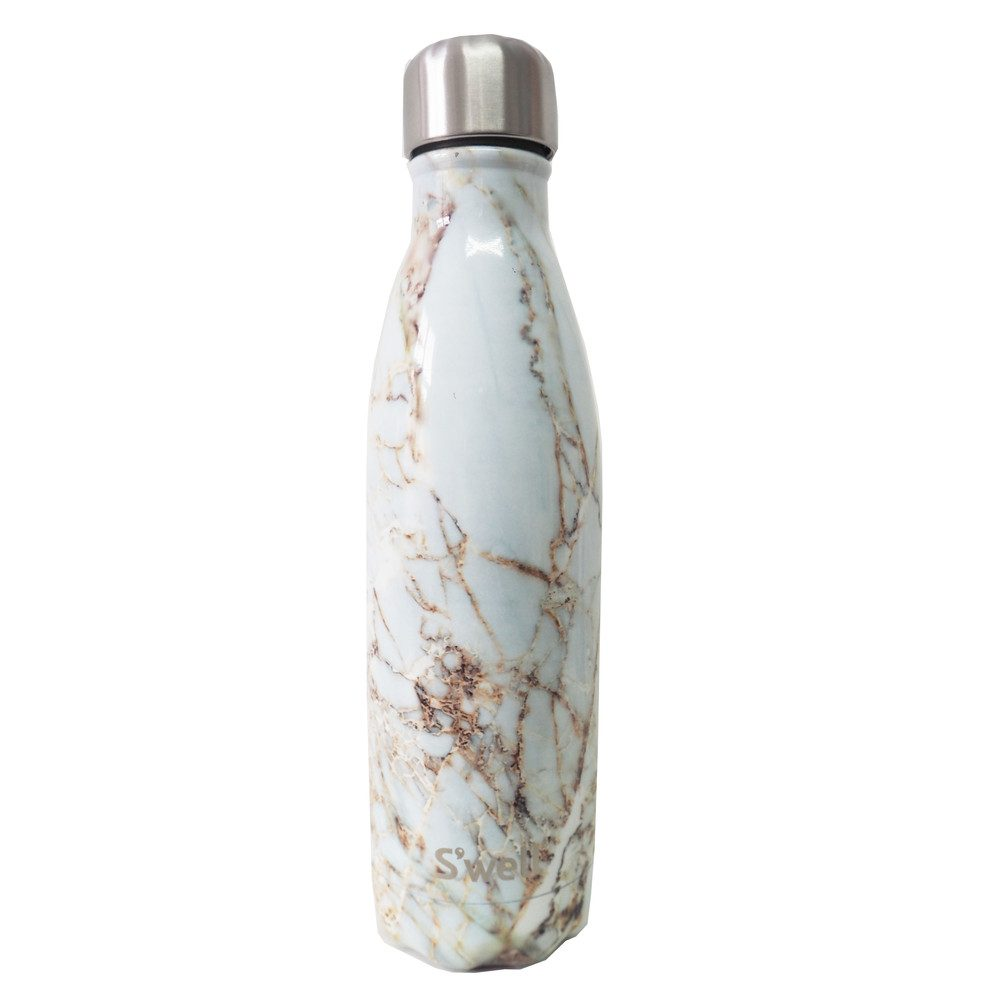 The Element 17oz Water Bottle - Calacatta Gold
