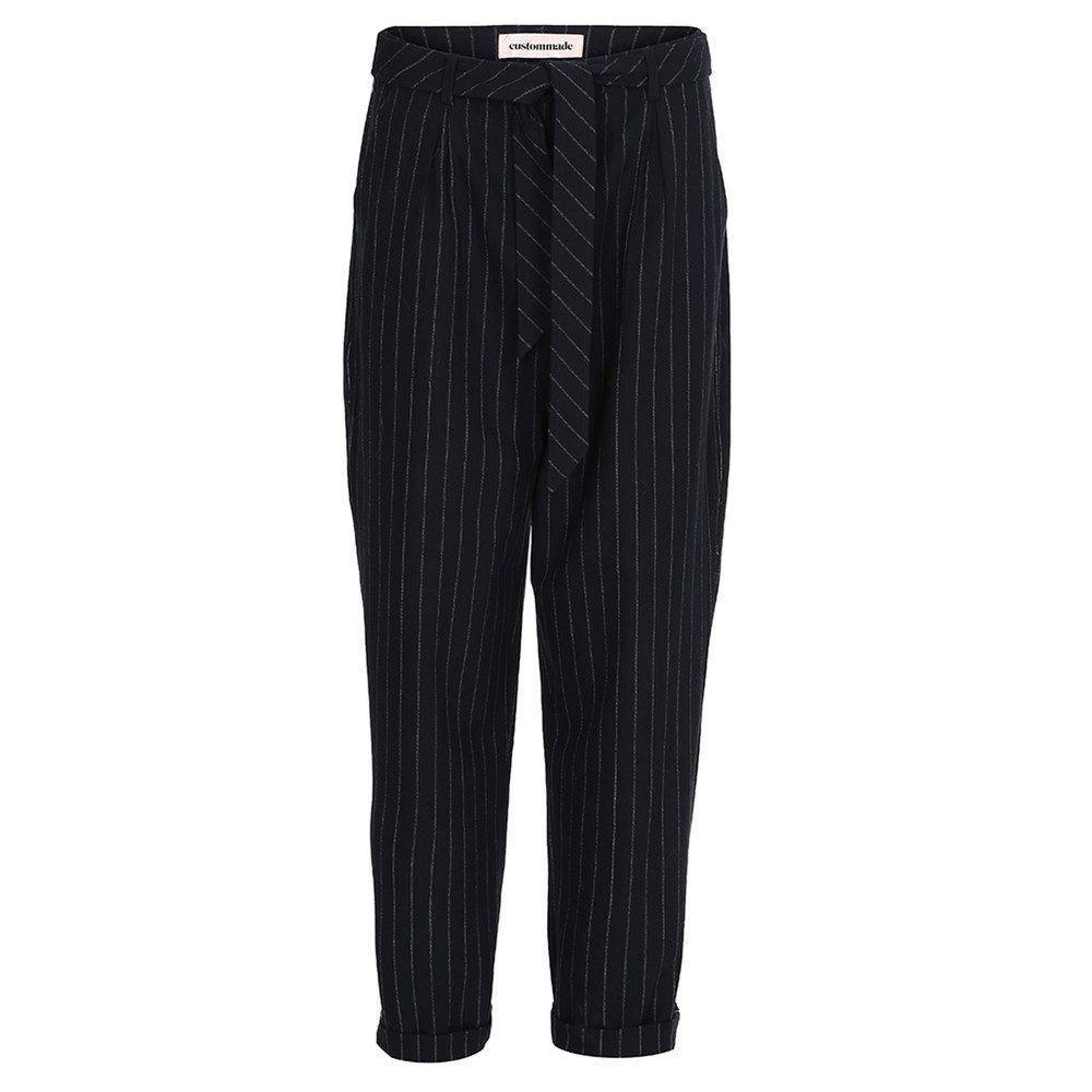 Zoey Pinstripe Trousers = Night Sky