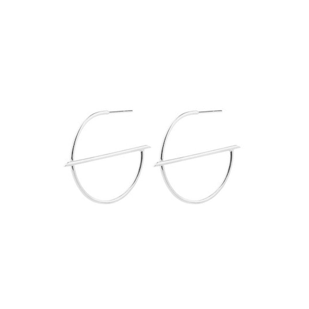 Horizon Creoles Earrings - Silver