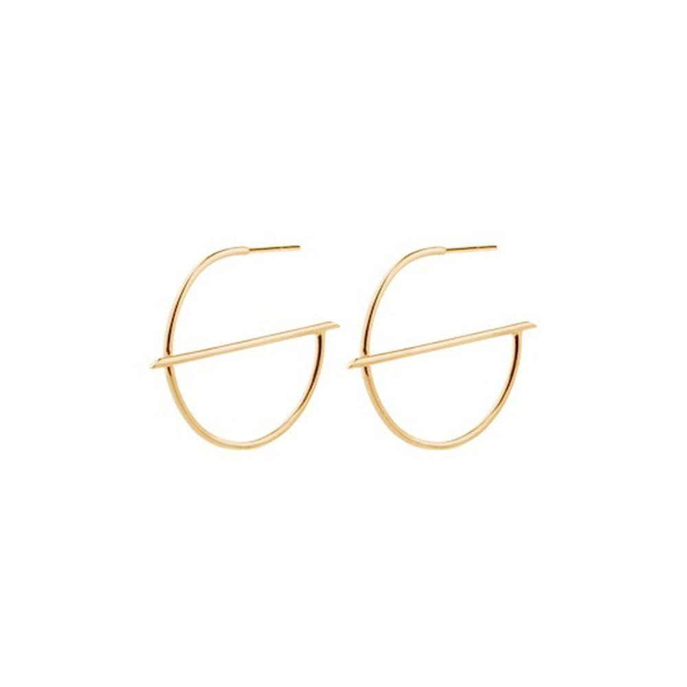 Horizon Creoles Earrings - Gold