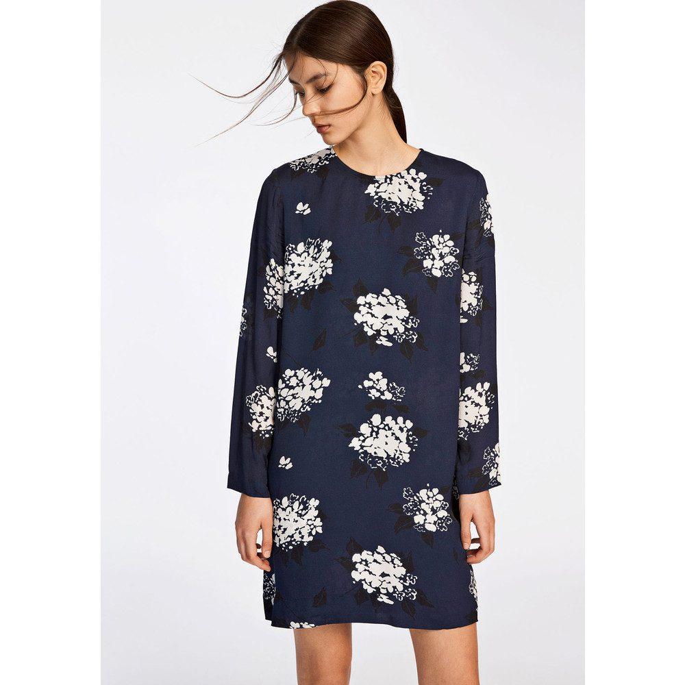 Marcie AOP Dress - Florasion Bleu
